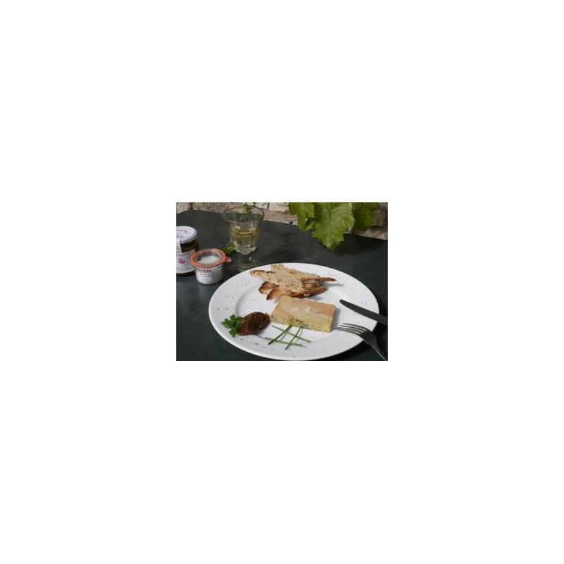 Terrine de foie gras de canard entier 260g pour 6 personnes - Les Bouriettes
