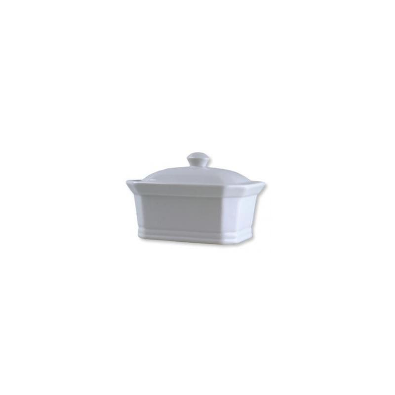Terrine vide en porcelaine blanche grand modèle 450g - Les Bouriettes