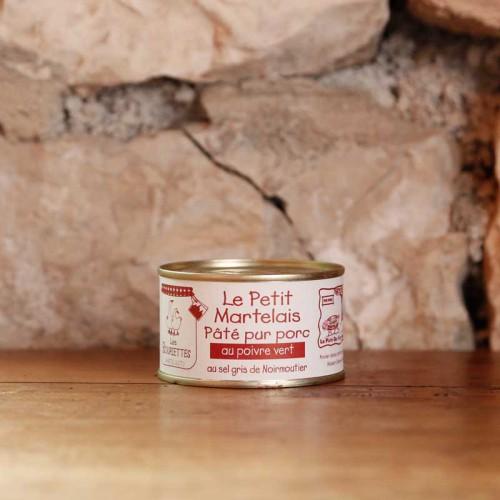 Terrine du Petit Martelais au poivre vert 190g