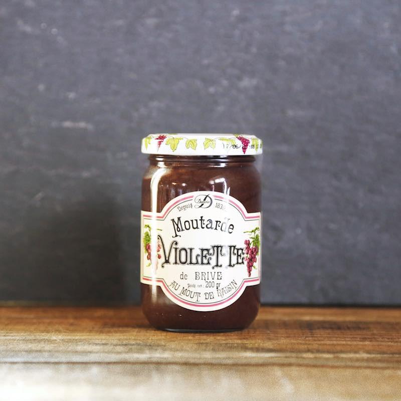 Recette ancestrale au moût de raison, moutarde violette de Brive  -Les Bouriettes