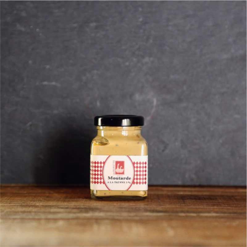 Pot en verre de moutarde à la truffe de 110g - Les Bouriettes