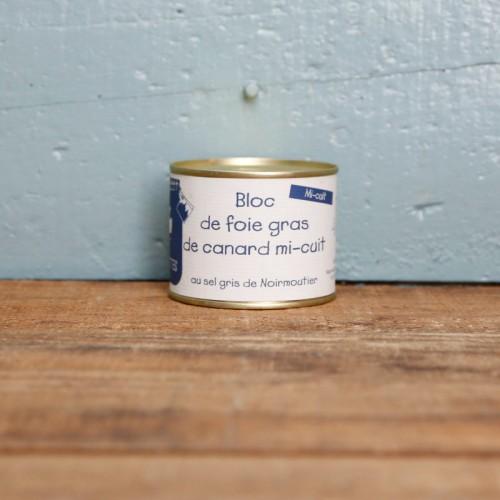 Bloc de foie gras de canard mi-cuit 100g
