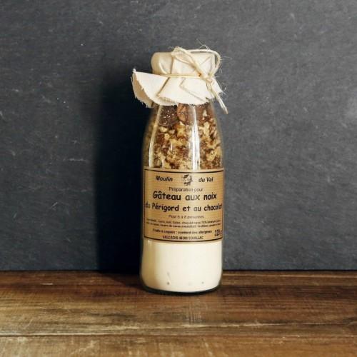 Gâteau aux noix du Périgord et au chocolat à préparer