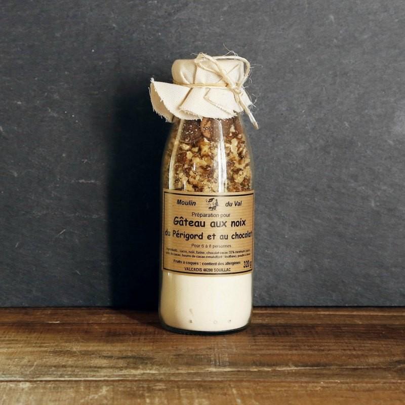 Gateau aux noix du Perigord et au chocolat a preparer