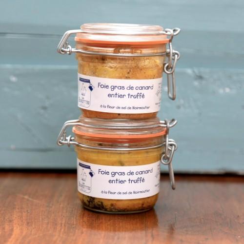 Foies gras de canard entier truffé 180gx2
