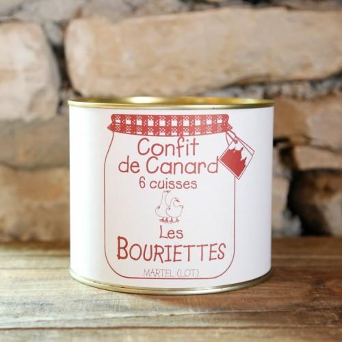 Confit de canard à l'ancienne en conserve de 2000g pour 6 personnes - Les Bouriettes