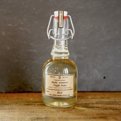 Huile de tournesol aromatisée truffe noire