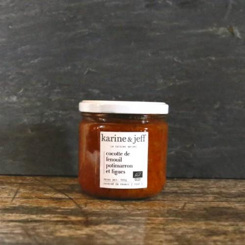 Cocotte de fenouil potimarron et figues